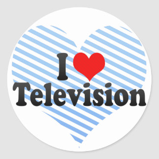 I Love Television Sticker