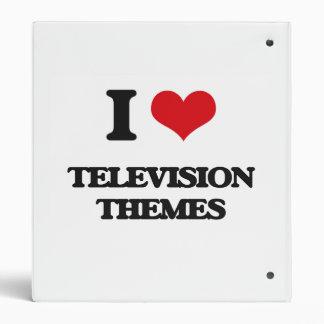 I Love TELEVISION THEMES Vinyl Binders
