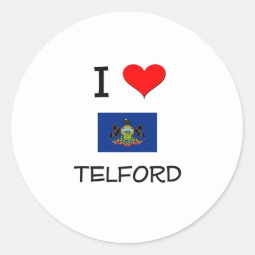 I Love Telford Pennsylvania Classic Round Sticker