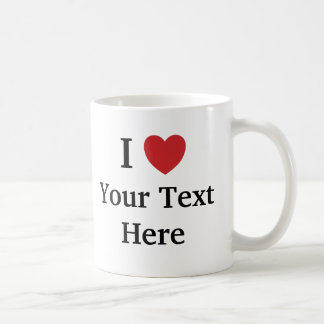 I Love Template Mug - Add Text + Photo