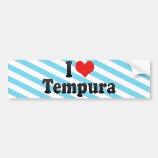 I Love Tempura Bumper Sticker