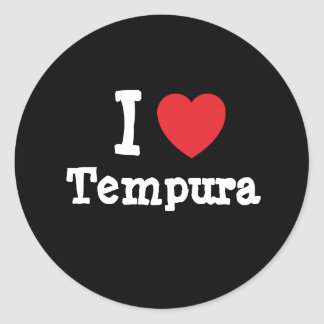 I love Tempura heart T-Shirt Stickers