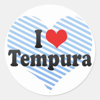I Love Tempura Round Sticker