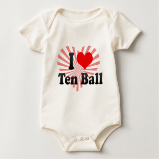I love Ten Ball Baby Bodysuit