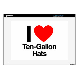 i love ten gallon hats decals for laptops