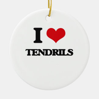 I love Tendrils Double-Sided Ceramic Round Christmas Ornament