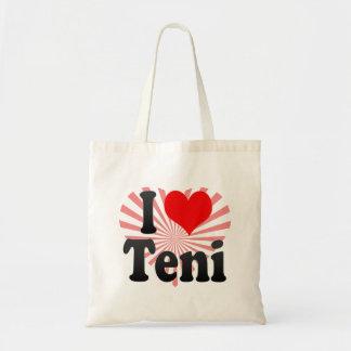 I Love Teni, India Tote Bags