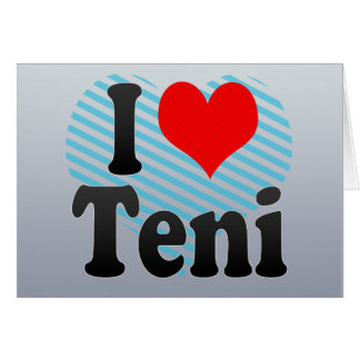 I Love Teni, India Greeting Cards