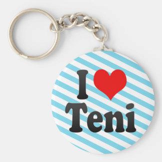 I Love Teni, India Key Chains
