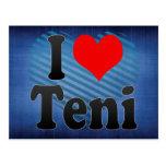 I Love Teni, India Post Card