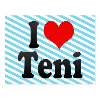 I Love Teni, India Postcard