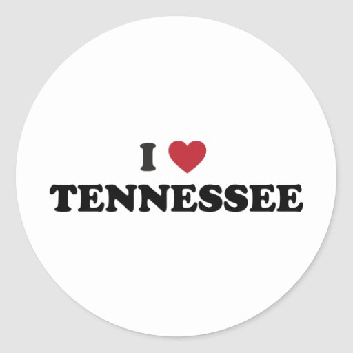 I Love Tennessee Classic Round Sticker