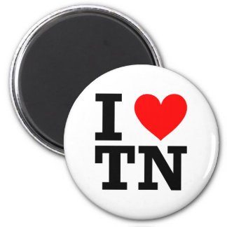 I Love Tennessee Design 2 Inch Round Magnet