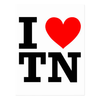 I Love Tennessee Design Postcard