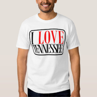 I Love Tennessee Design T Shirt