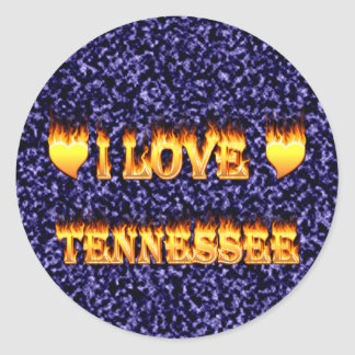 I love tennessee fire and flames sticker
