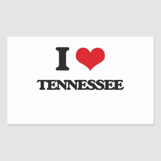 I love Tennessee Rectangular Sticker