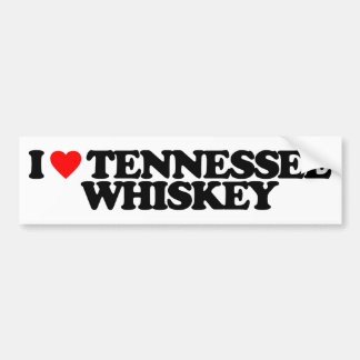 I LOVE TENNESSEE WHISKEY BUMPER STICKER