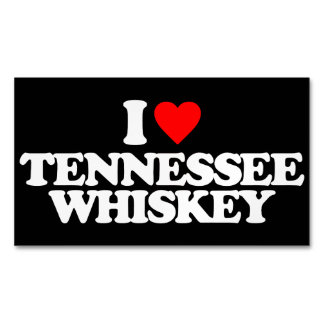 I LOVE TENNESSEE WHISKEY MAGNETIC BUSINESS CARD