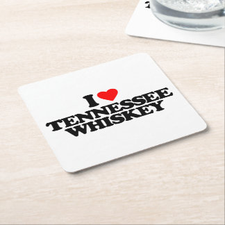 I LOVE TENNESSEE WHISKEY SQUARE PAPER COASTER