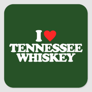 I LOVE TENNESSEE WHISKEY SQUARE STICKER
