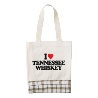 I LOVE TENNESSEE WHISKEY ZAZZLE HEART TOTE BAG
