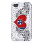 I Love Tennessee -wings iPhone 4/4S Cases