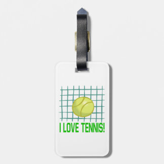 I Love Tennis 2.png Bag Tag