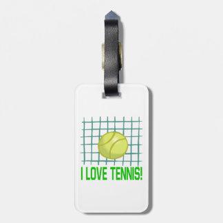 I Love Tennis 2.png Bag Tag