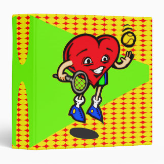 I Love Tennis Vinyl Binder