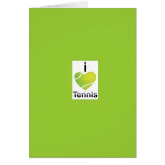 i love tennis birthday card