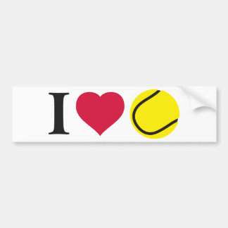 i love tennis bumper sticker