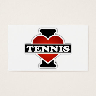 I Love Tennis Business Card