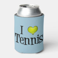 I Love Tennis Can Cooler