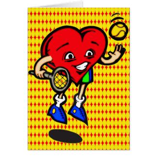 I Love Tennis Card