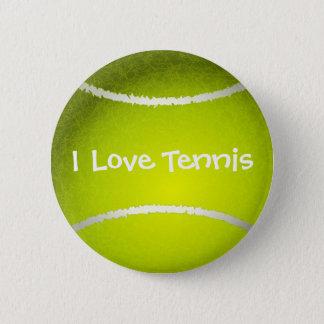 I love tennis customizable Button