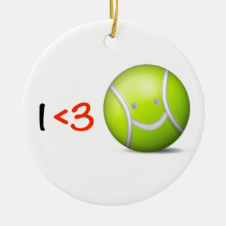 I love tennis Double-Sided ceramic round christmas ornament