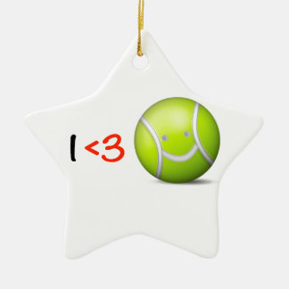 I love tennis Double-Sided star ceramic christmas ornament