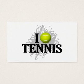 I Love Tennis Emblem Business Card