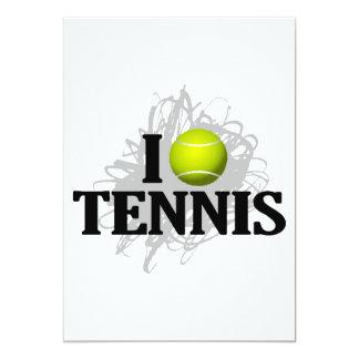 I Love Tennis Emblem Card