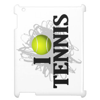 I Love Tennis Emblem iPad Covers