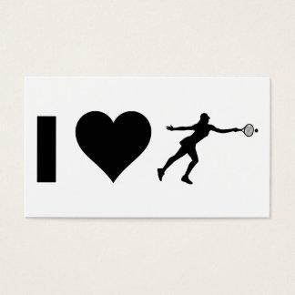 I Love Tennis (Female) Business Card
