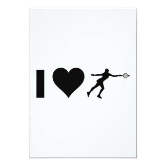 I Love Tennis (Female) Card