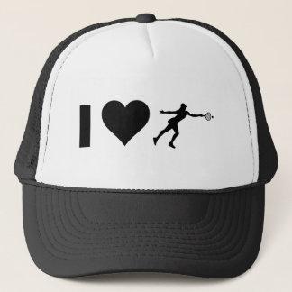 I Love Tennis (Female) Trucker Hat