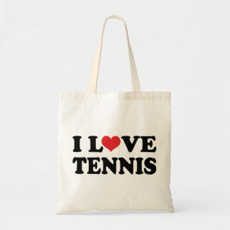 I Love Tennis (Gift) Budget Tote Bag