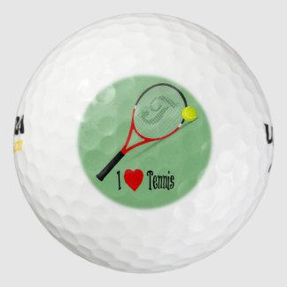 I Love Tennis Golf Balls