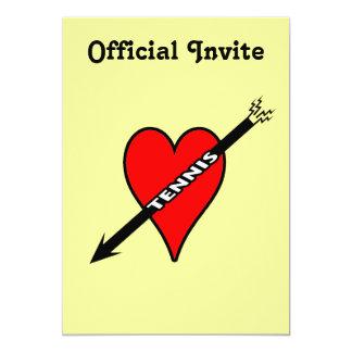 I Love Tennis Heart Card