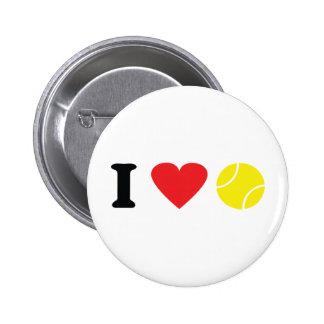 I love tennis icon 2 inch round button