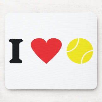 I love tennis icon mouse pad