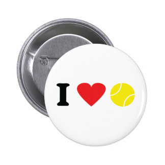 I love tennis icon pinback button